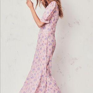 NWT LoveShackFancy Stacy duster pink garden dress